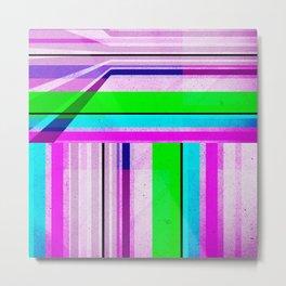 Neon Stripes 2 Metal Print