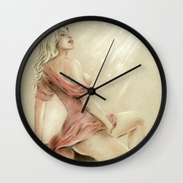 Love Charm - Erotic Pastel Wall Clock