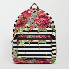 Elegant Christmas - apple, cinnamon & rose Backpack