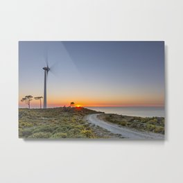 The wind, energy of the present and future Metal Print