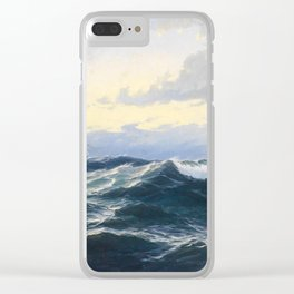Max Jansen - Naval piece with steamer, 1862 Clear iPhone Case