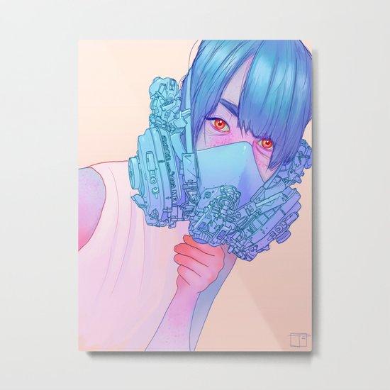Untitled mask drawing Metal Print