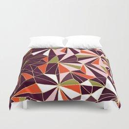 New Art Deco Geometric Pattern - Burgundi and Pink #deco #buyart Duvet Cover