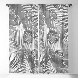 Tropical Jungle Leaves Siesta #4 #tropical #decor #art #society6 Sheer Curtain