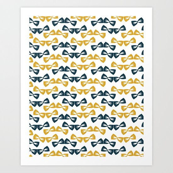 Zany Du Bow Tie Pattern Art Print