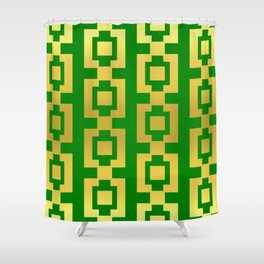 Green and gold design Shower Curtain