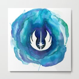 Star Wars Jedi Watercolor Metal Print