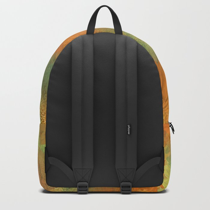 Floral Orange-Yellow-Green Backpack