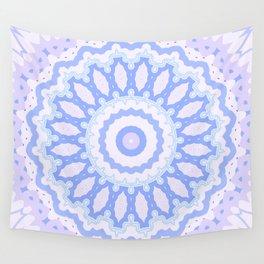 Mandala Blue Wall Tapestry
