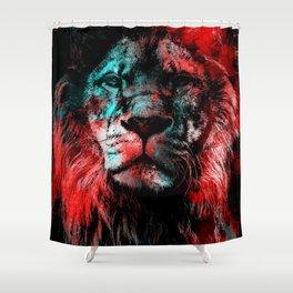 Lion wild cat #lion Shower Curtain