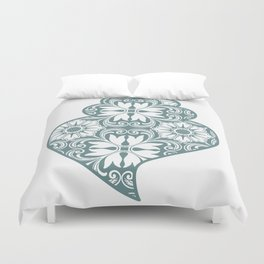 Traditionall portuguese Viana's heart and azulejo tiles background Duvet Cover
