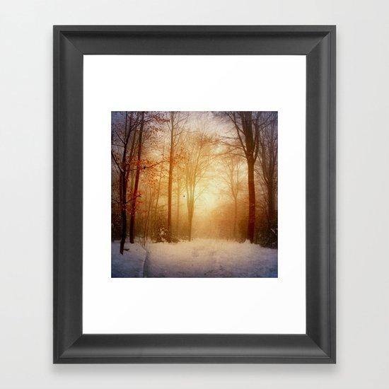 warm wintEr glOw Framed Art Print