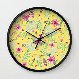 Yellow spring Wall Clock