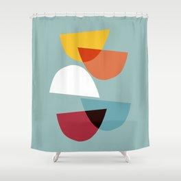 Mid century abstract art 01 Shower Curtain