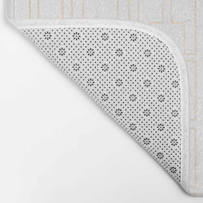 Simply Mid-Century in White Gold Sands Bath Mat