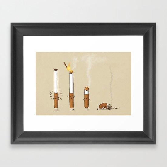 Smoking Kills Framed Art Print