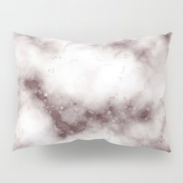 Creamy White Marble With Chocolate Brown Veins Pillow Sham