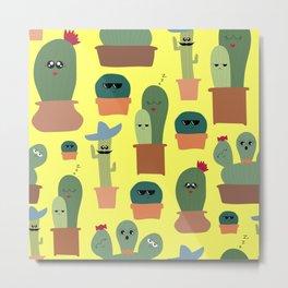 Cactus Family Metal Print