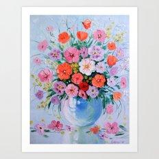 Bouquet of meadow flowers Art Print