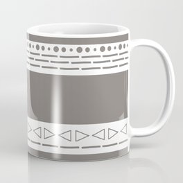 Bohemian grey&white monochromatic neutral pattern Coffee Mug