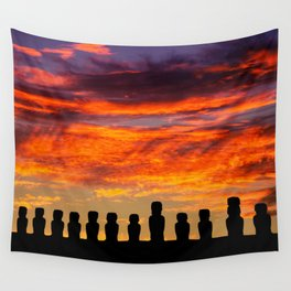EASTER ISLAND SUNRISE Wall Tapestry