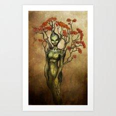 Crimson Dryad Art Print