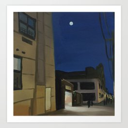 Moon Over the Jefferson L Art Print