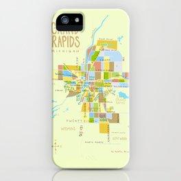 Illustrated Grand Rapids Map iPhone Case