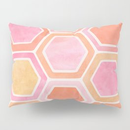 Desert Mood II - Watercolor Hexagon Pattern Pillow Sham