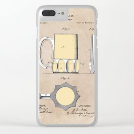 patent Beer Mugs Clear iPhone Case