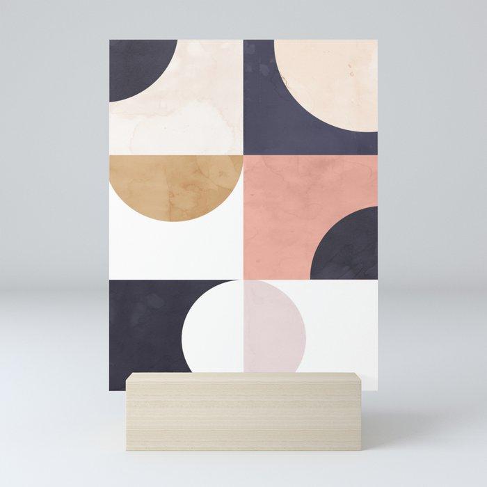 Geometric Moontime 1 Mini Art Print