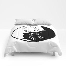 Cute cats Yin Yang sign Comforters