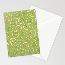 Lime Oranges Pattern Stationery Cards