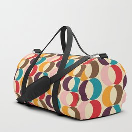 Mid Century Modern Circles Duffle Bag