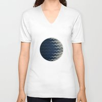 wave V-neck T-shirts featuring Wave by thinschi