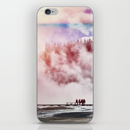 Hot Spring Silhouettes iPhone Skin