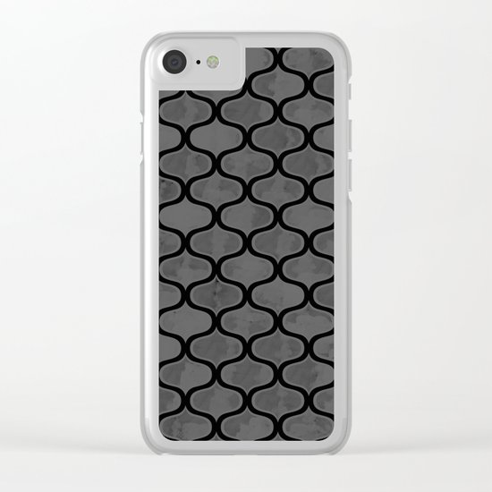Watercolor Lovely Pattern VVXV Clear iPhone Case