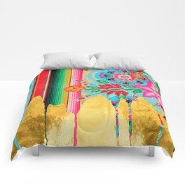 Gold Dipped Boho Serape Dream Comforters