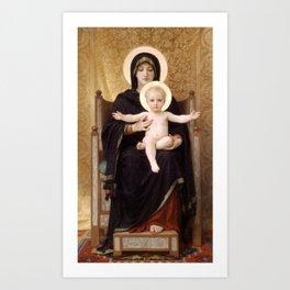 "William-Adolphe Bouguereau ""Virgin and Child"" Art Print"