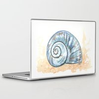 shell Laptop & iPad Skins featuring Shell by Pendientera