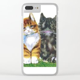 Vintage Kittens Clear iPhone Case