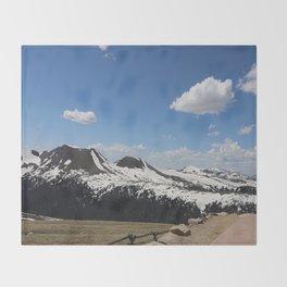 Snowcapped Mountains Throw Blanket