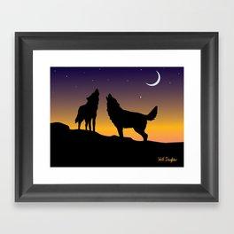 Howl Together Framed Art Print