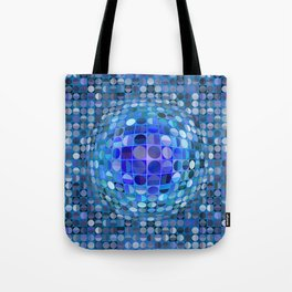 Optical Illusion Sphere - Blue Tote Bag