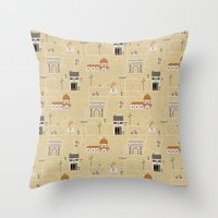 florence Throw Pillows featuring Florence by Charlotte Langstroth