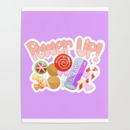 Candy Power Up Poster