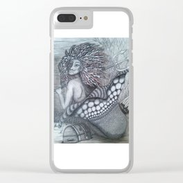 Guardian mermaid Clear iPhone Case