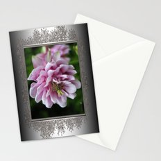 Double Columbine named Pink Tower Stationery Cards