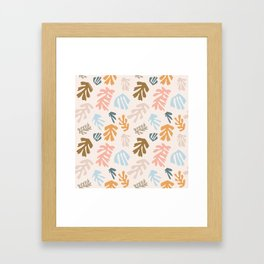 Seaweeds and sand Framed Art Print