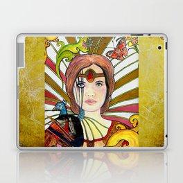 La jeune fille au paon (the peacock maiden) Laptop & iPad Skin